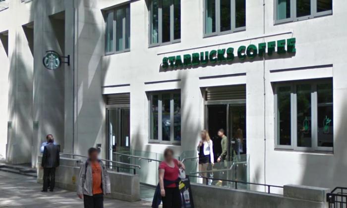 Starbucks coffee shop on  Tavistock Square, London, U.K. (Screenshot via Google Street View)