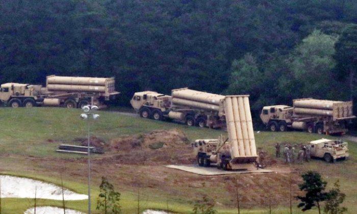 Terminal High Altitude Area Defense (THAAD) interceptors are seen as they arrive at Seongju, South Korea, September 2017. (Lee Jong-hyeon/News1 via REUTERS)