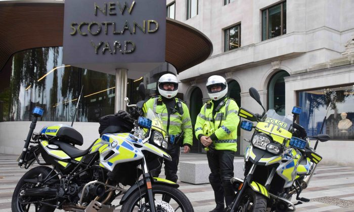 Scotland Yard hopes that their new BMW motorbikes will help them chase down moped criminals. (Metropolitan Police)
