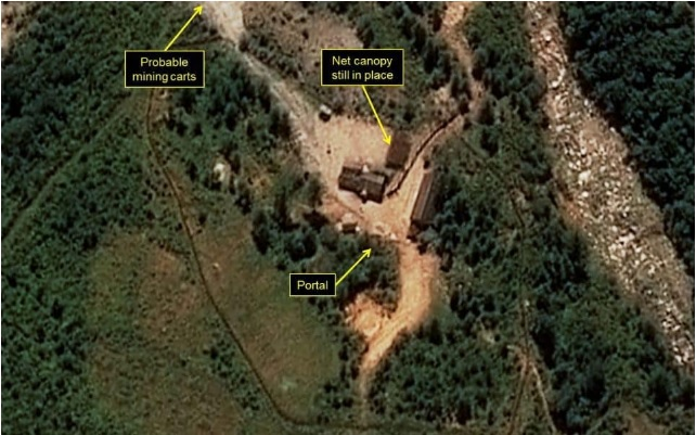 A satellite image purportedly shows a North Korean nuclear test site. (38 NORTH)