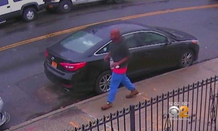 (Screenshot/Security camera footage - via CBSNY)