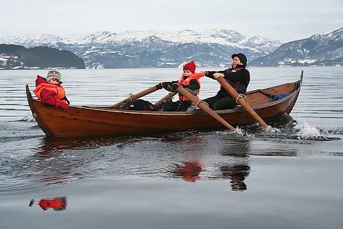 Norway's Oselvar Boat.  (Kjell Magnus Okland)