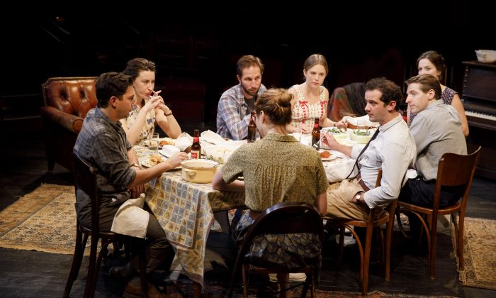 """The company of """"Illyria,"""" written and directed by Richard Nelson, at The Public Theater. (Joan Marcus)"""