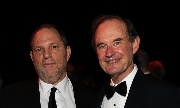 Harvey Weinstein (L) and David Boies at Frederick P. Rose Hall, Jazz at Lincoln Center on April 26, 2011, in New York City. (Larry Busacca/Getty Images for TIME)