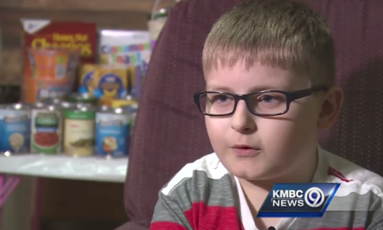11-year-old trick or treats for canned goods instead of candy. See the heartwarming reason why.