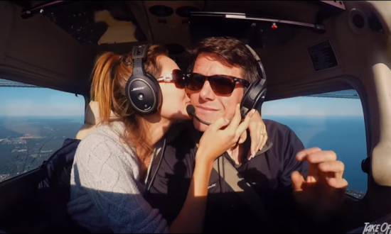 Couple flies into 'restricted airspace'—then she sees what's behind them—'are you serious?'