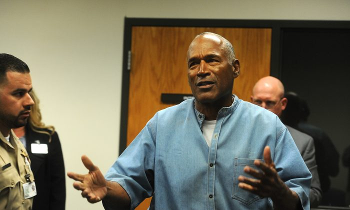 O.J. Simpson attends a parole hearing at Lovelock Correctional Center in Lovelock, Nevada on July 20, 2017. (Jason Bean-Pool/Getty Images)