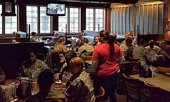 A dozen soldiers came into restaurant from training. But when they got the bill—it didn't add up