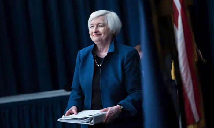 Federal Reserve Board Chairman Janet Yellen in Washington on March 15. (BRENDAN SMIALOWSKI/AFP/Getty Images)