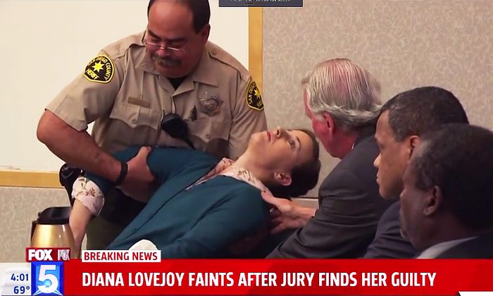 Diana Lovejoy, Guilty of Murder Conspiracy, Faints at Verdict