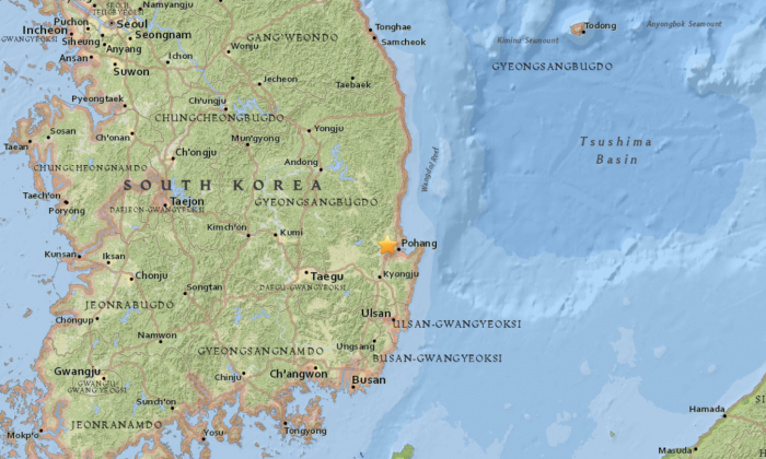 Rare 5.4 magnitude quake hits off South Korea's coast