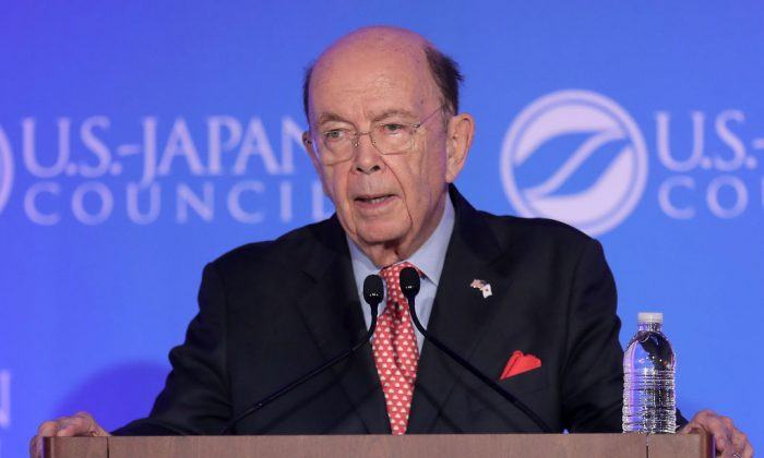 U.S. Commerce Secretary Wilbur Ross delivers keynote remarks during the U.S.-Japan Council's annual conference at the J.W. Marriott in Washington, DC, Nov. 13, 2017. NAFTA renegotiation talks may become more challenging in 2018, warned Ross. (Chip Somodevilla/Getty Images)
