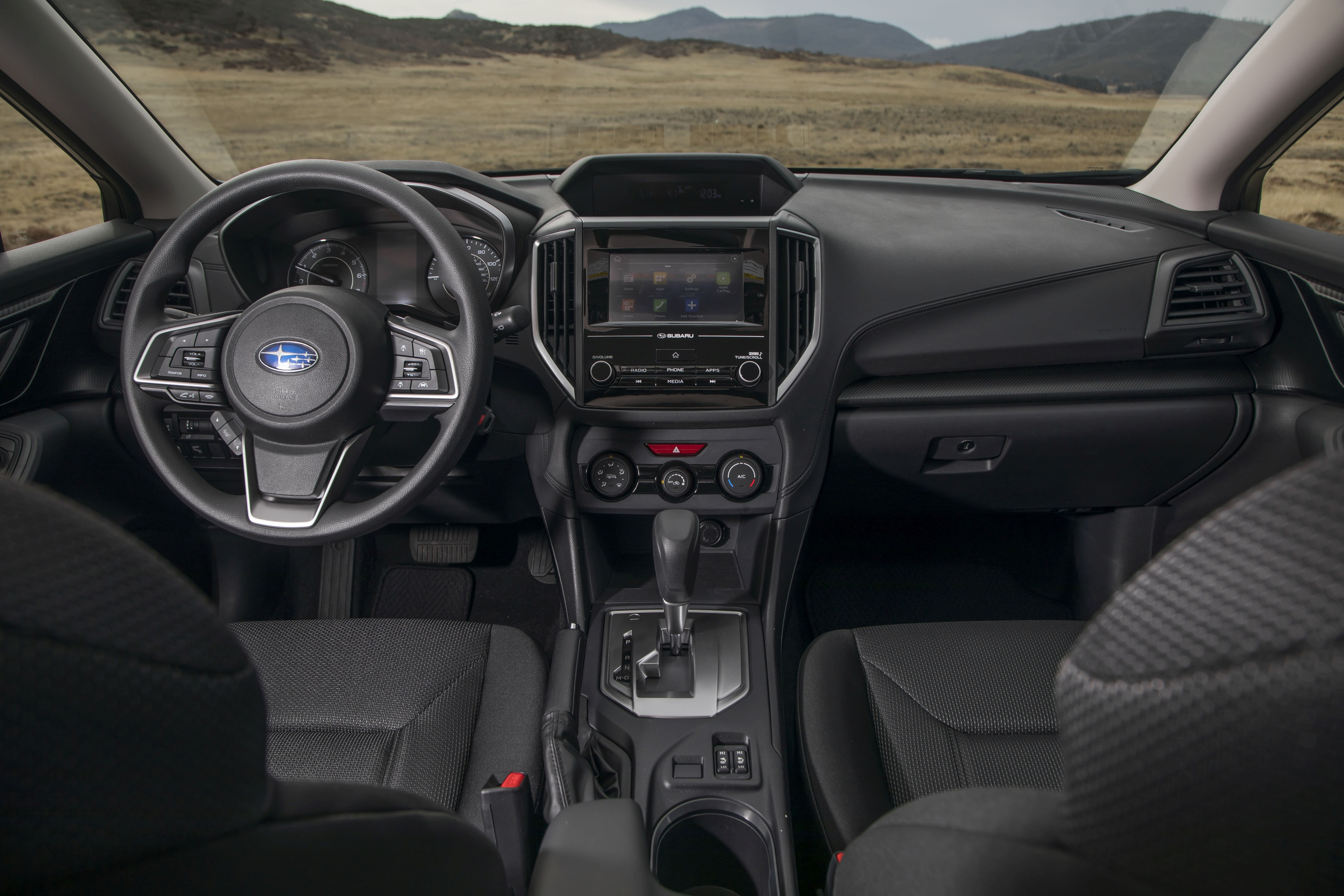 The Interior Of 2017 Impreza Courtesy Subaru