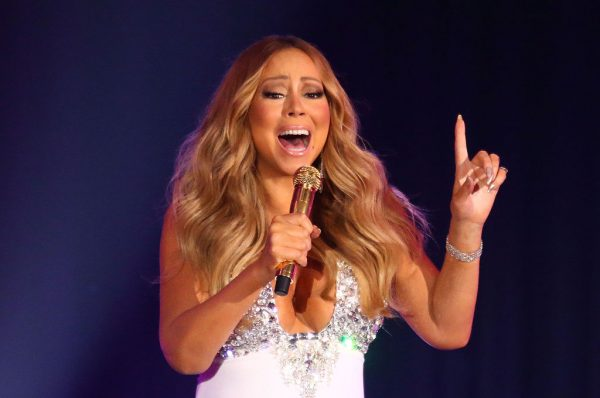 Mariah Carey performs at a previous Christmas concert at Crown Palladium on Dec. 31 2015 in Melbourne Australia