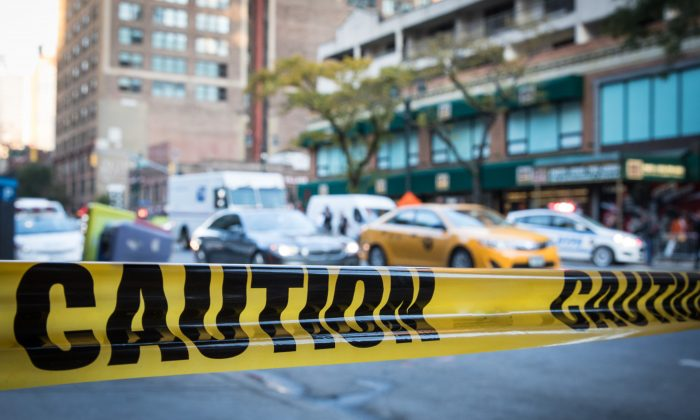 A caution tape at a scene in Midtown Manhattan on Nov. 3 2017