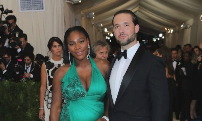 Serena Williams and Alexis Ohanian pictured on May 1, 2017 in New York City.  (Neilson Barnard/Getty Images)