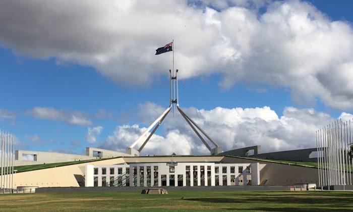 Outside Australian Parliament House (Janita Kan/The Epoch Times)