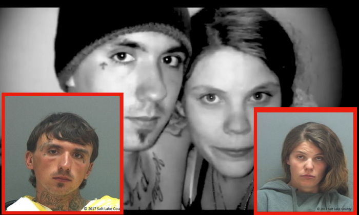 Austin Jeffrey Boutain (L) and Kathleen Boutain have been charged with multiple crimes in connection with the murder of a University of Utah student. (Photos courtesy of Salt Lake County Sheriff's Office / YouTube)