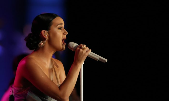 Katy Perry at the 2015 Starkey Hearing Foundation, So The World May Hear Gala at the St. Paul RiverCentre on July 26, 2015 in St. Paul, Minn. (Adam Bettcher/Getty Images for the Starkey Hearing Foundation)