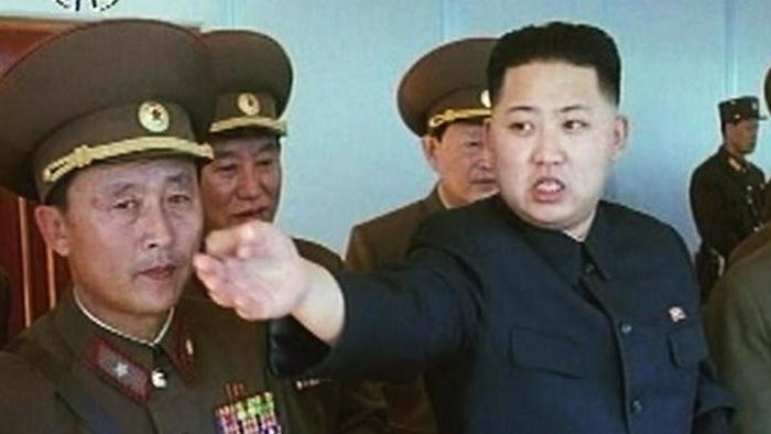 North Korean communist dictator Kim Jong Un in this undated image released by state media.