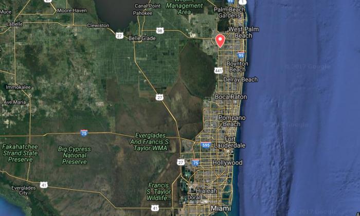 The location of the Equestrian Trails Elementary in Wellington, Fla. (Screenshot via Google My Maps)