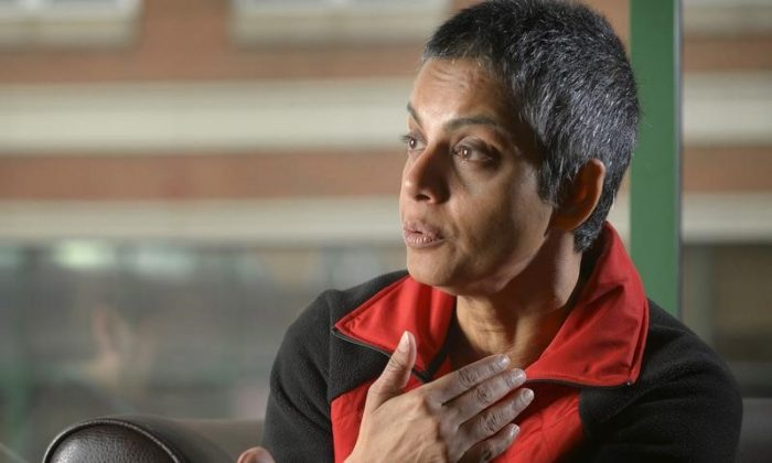 File photo: Rafida Ahmed, who is recovering from injuries including the loss of her thumb suffered during a hacking attack by jihadi assailants, speaks during an interview with Reuters near Washington April 23, 2015. (Reuters)/Stringer