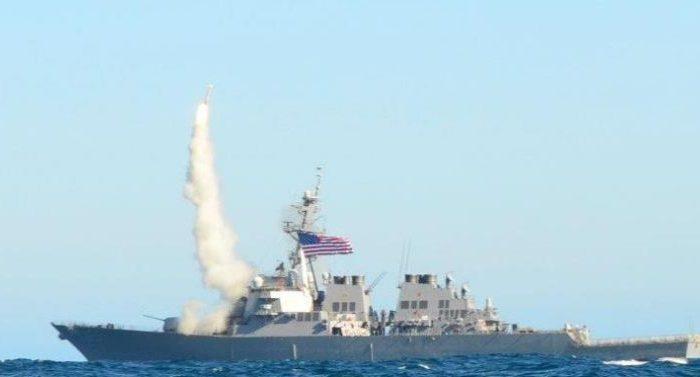 Japanese tug slightly damages U.S. destroyer