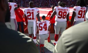 A Handful of NFL Players Continue to Protest During Anthem