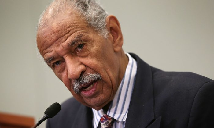 Rep. John Conyers (D-MI) speaks in Washington, DC., on September 18, 2015. (Alex Wong/Getty Images)
