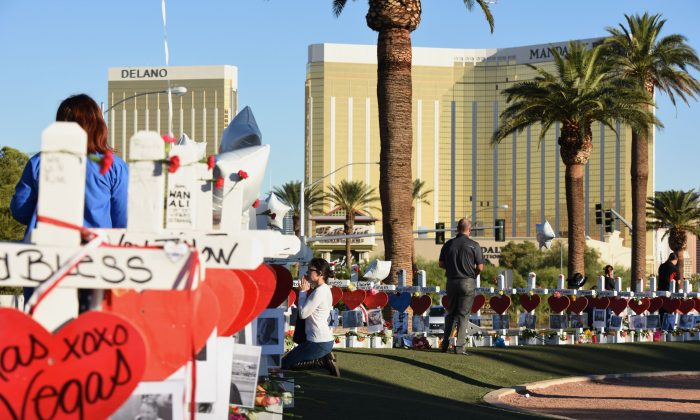 Over 450 victims of the Las Vegas massacre have filed new lawsuits against Mandalay Bay, MGM Resorts International, and LiveNation. (Robyn Beck/AFP/Getty Images)
