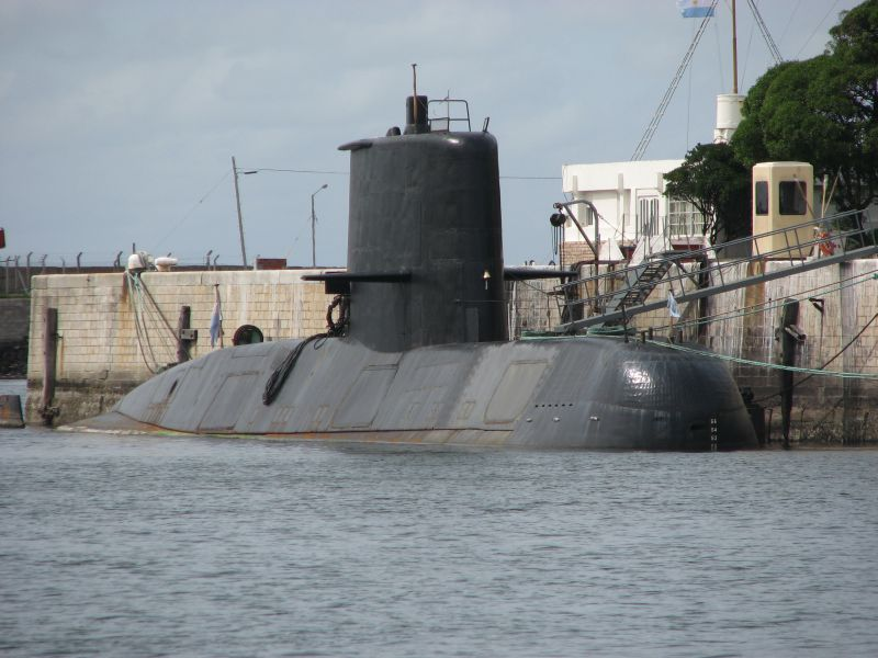 The Argentine submarine ARA San Juan, S-42, docked before a mission. The sub has been missing since Nov. 15. (en.wikipedia.org)