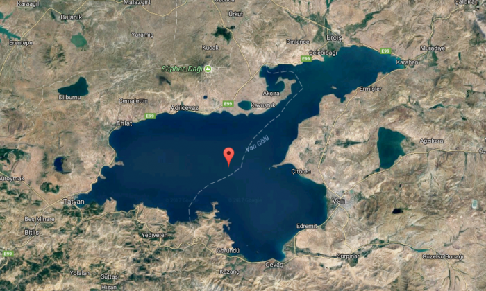 Lake Van, Turkey. (Screenshot via Google Maps)