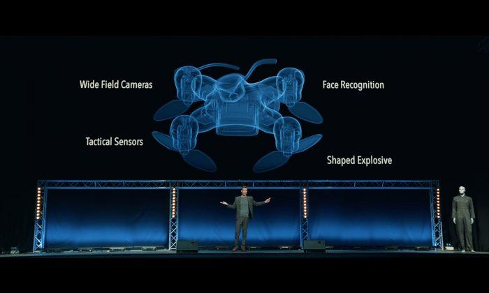 """Slaughterbots"" video on killer drones. (Screenshot via Stop Autonomous Weapons/YouTube)"