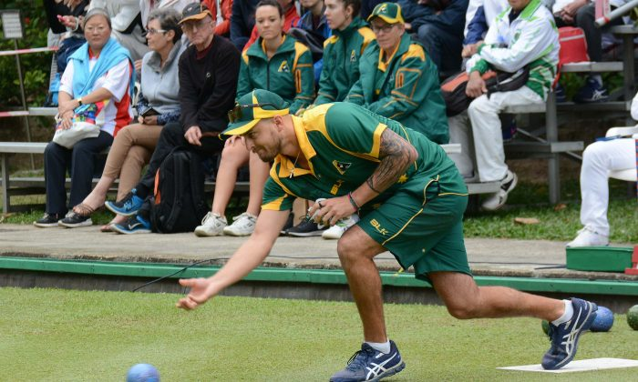 Australia Jesse Noronha became the seventh player in the history of the Hong Kong International Bowls Classic to win both singles and pairs title in the same year. (Stephanie Worth)