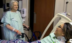 Elderly woman saves a life in the ultimate act of selflessness