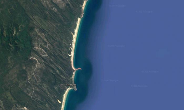 Five Rocks Beach, where Hannah Dingle died in a car roll-over. (Screenshot via Google Maps)