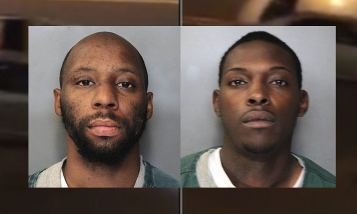 Andrew Thomas (L) and Keenan G. McGriff have been arrested by Syracuse police and accused of recklessly causing the death of Earnest Collins on Aug. 26, 2017. (Syracuse Police Department)