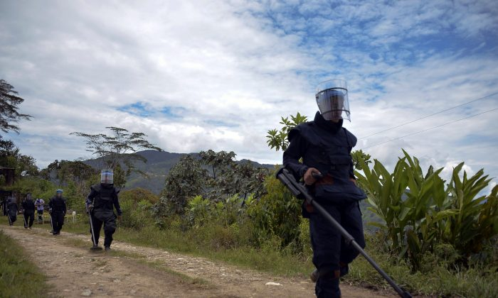 Soldiers conduct a de-mining training in Campo Alegre, Colombia, on April 16, 2015. Canada marks 20 years since the signing of the Ottawa Treaty, which became the cornerstone of the international effort to end the use of landmines. (Raul Arboleda/AFP/Getty Images)