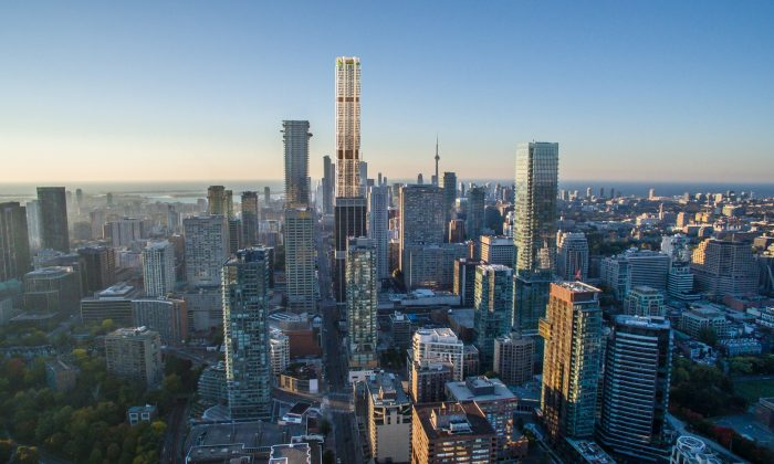 Rendering of The One condo building in Toronto. (Courtesy of Mizrahi Developments)
