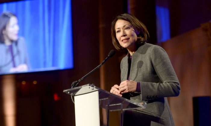 Ann Curry speaks onstage at the Worldwide Orphans Gala on November 18, 2013 in New York City.  (Photo by Michael Loccisano/Getty Images for Worldwide Orphans)