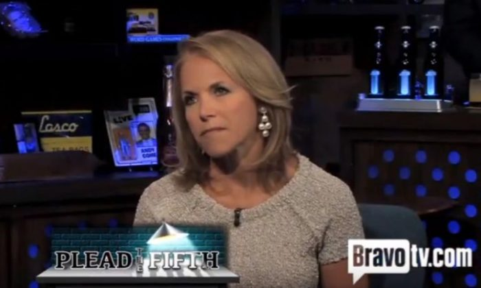 """Katie Couric on the 2012 """"Watch What Happens Live"""" show.  (YouTube / screenshot)"""