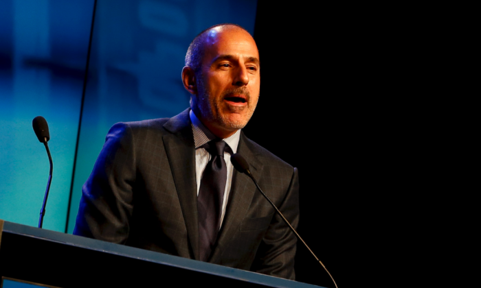 "Fired NBC ""Today"" show host Matt Lauer at an awards ceremony on Nov. 24, 2014 in New York City. (Jeff Zelevansky/Getty Images)"