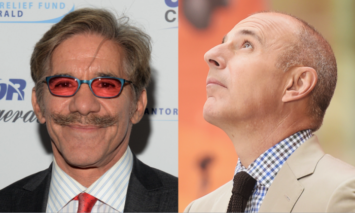 Geraldo Rivera (Noam Galai/Getty Images for Cantor Fitzgerald) and Matt Lauer (Michael Loccisano/Getty Images)