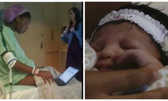Woman goes into labor on the day of college exam, how she handles it is incredible