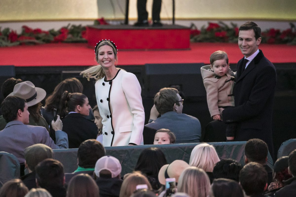 Ivanka Trump and Jared Kushner bring their children to the 95th annual National Christmas Tree Lighting at the White House Ellipse in Washington on Nov.  sc 1 st  The Epoch Times & President Trump and First Lady Light Christmas Tree | Donald Trump ... azcodes.com