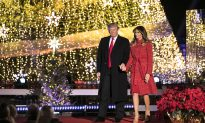 President Trump and First Lady Light Christmas Tree