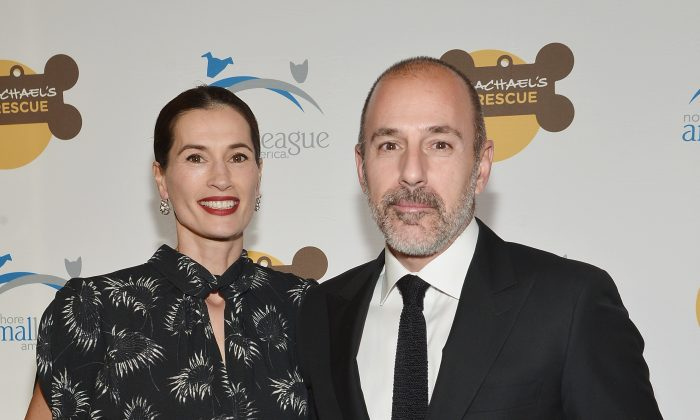 Annette Roque (L) and Matt Lauer attend the 2013 Animal League America Celebrity gala at The Waldorf Astoria on Nov. 22, 2013 in New York City. (Mike Coppola/Getty Images)