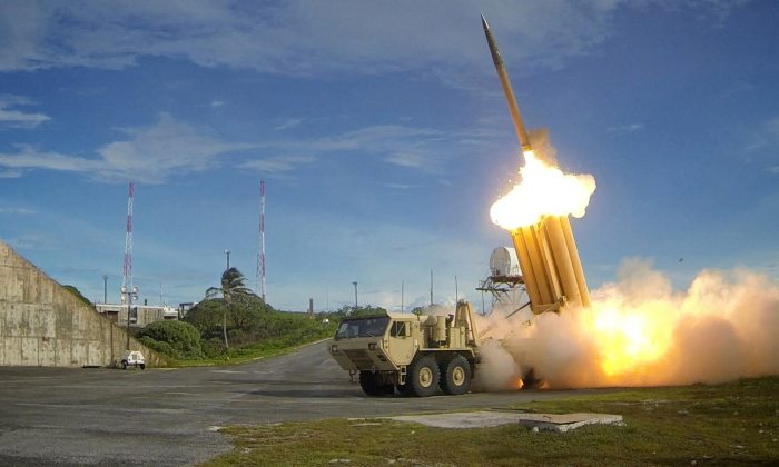 A Terminal High Altitude Area Defense (THAAD) interceptor is launched during a successful intercept test, in this undated handout photo provided by the U.S. Department of Defense, Missile Defense Agency. (U.S. Department of Defense, Missile Defense Agency/Handout via Reuters/File Photo)