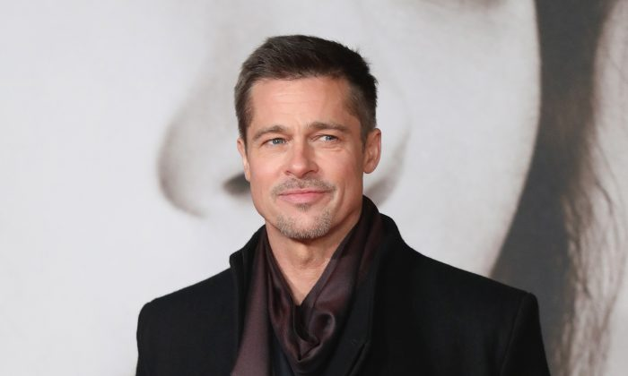 """Brad Pitt attends the UK Premiere of """"Allied"""" at Odeon Leicester Square in London, England on Nov. 21, 2016 . (Tim P. Whitby/Getty Images)"""