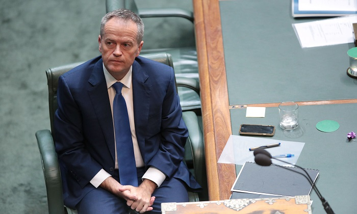 Opposition leader Bill Shorten during House of Representatives question time at Parliament House on May 11, 2017 in Canberra, Australia. According to a media report, Shorten asked wealthy Chinese political donor Huang Xiangmo for money after his party was warned by ASIO of the billionaire's ties with the Chinese Communist Party. (Stefan Postles/Getty Images)